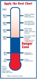 Food Temperature Chart Danger Zone Heat Chart From Food Safety For Moms To Be Food Safety