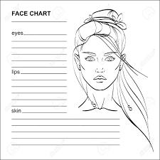 Stock Chart Art Face Chart Makeup Artist Blank Vector
