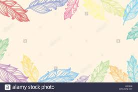 Cute Background With Feathers Vector Card Design With