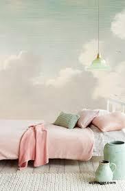 Masterpiece Behang Eijffinger Light Green And Pink Bedroom