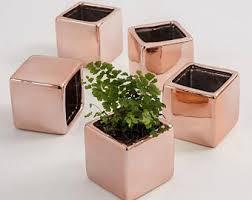5 Mini Flower Planters, Wedding Favor Flower Pots, Small Vases, Planter, 5