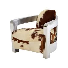 aviator brown cowhide leather accent chair main image 1 of 8 images