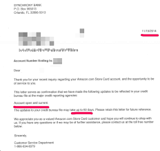 ripoff report synchrony bank amazon card plaint review