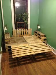 diy pallet bed frame marvelous wood pallet bed frame with lights 40 for your home
