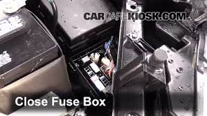 replace a fuse 2014 2016 nissan rogue 2014 nissan rogue sl 2 5l 6 replace cover secure the cover and test component
