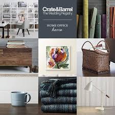 crate and barrel home office. Crate Barrel Wedding Registry Home Office Furniture Artwork Register Bridal Gift And F