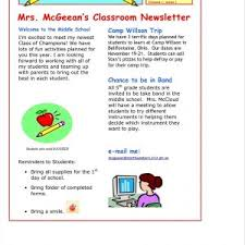 Save Word Templates Free School Newsletter Design Templates Save Word Newsletter