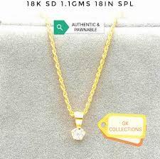 philippines t gold100 18k saudi gold necklace with stone pendant able 1 1gram 18inches gold