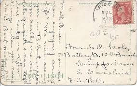 Heirlooms Reunited: 1918 postcard of Moose Pond from Ida Knight at  Bridgton, Maine, to Frank Owen Cole at his Military Post