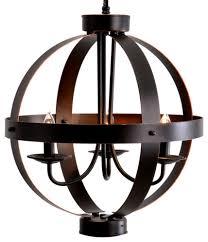 catalina 3 light metal orb chandelier bronze