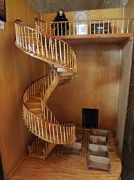 model of the staircase with the additional railing