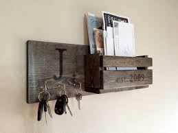 outstanding mail and key holder for wall rustic monogram in ebony letter bed bath beyond target diy canada australium hobby lobby plan