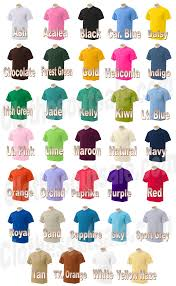 Gildan 5000 Color Chart 2018 Gildan T Shirt Color Chart 2012 Rldm