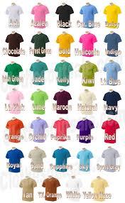 Gildan T Shirt Color Chart 2012 Rldm