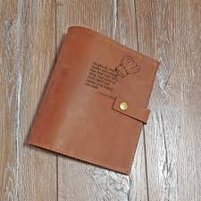 receipt book personalised receipt book cover chief gift leather book cover leather case with