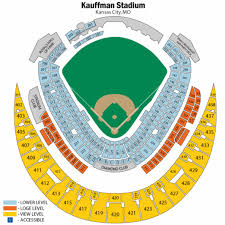 Kauffman Stadium Seat Map Map 2018