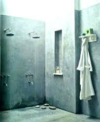 shower walls wall ideas concrete custom tile ca industrial bathroom metal corrugated sheet