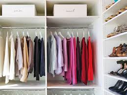 sorting wardrobe into categories and storing it thusly makes getting ready so much easier