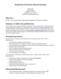 Auto Technician Resume The Best Resume Resume For Study