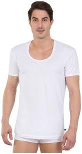 Buy Jockey 2 Half Sleeves Round Neck Vest White Online At