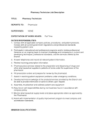 doc 7911024 pharmacy technician hospital resume s technician now