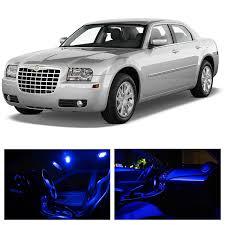 amazon ledpartsnow chrysler 300 2005 2010 blue premium led interior lights package kit 12 pieces automotive