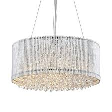 drum and crystal chandelier chrome round drum metal shade crystal chandelier ceiling fixture pendant drum drum and crystal chandelier