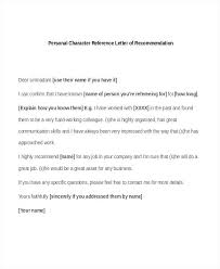 Letters Of Recommendation Personal Samples Of Personal Recommendation Letters Reference Letter