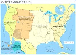 Time Zones In The United States Map Pergoladach Co