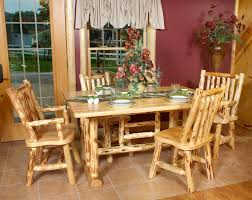 handcrafted and expertly made log kitchen table chairs