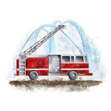 winsome fire truck wall art firefighter nursery with hose pertaining to fire truck wall art