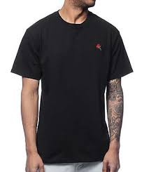 Empyre Rose Embroidery Black T Shirt In 2019 Shirts Rose