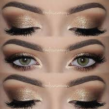 soft smokey eyes gold glitter full tutorial in my you channel link in my bio eyeshadows toofacedand pigment sigmabeauty use the code melissasb
