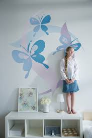 Small Bedroom Designs For Ladies Diy Paint By Number Mural Butterfly Mural Butterfly Room Decor