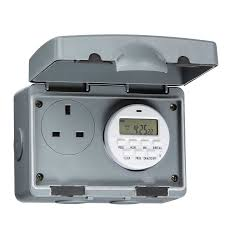 knightsbridge ip7000d ip66 13a outdoor socket with 7 day digital timer