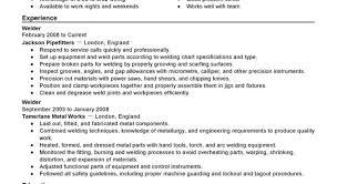 Welding Apprentice Cover Letter Resume Sample Formats