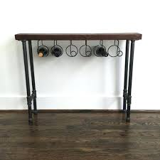 Sofa table with wine storage Cabinet The Reserve Wine Rack Console Table Reclaimed Storage Sofa With Sofa Table With Wine Becks Furniture Sofa Table With Wine Storage Rack Images Workandgo