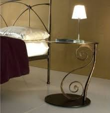 wrought iron side table. Wrought Iron Bedside Table 3 Side D