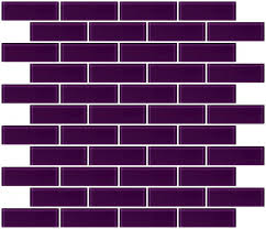 1x3 inch lavender purple glass subway tile