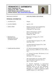 Sample Of Civil Engineer Resume Resume Sample Of Civil Engineer