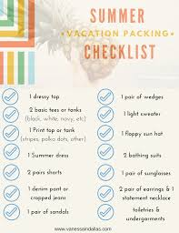 Summer Vacation Packing Checklist — Vanessa In Dallas