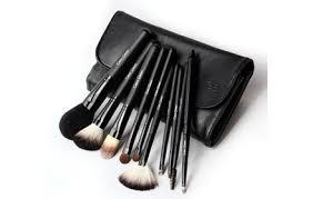 cerro qreen fashion makeup brush kit natural wool 10pcs black hermo beauty msia