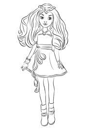 Evie From Descendants Wicked World Coloring Page Descendants In