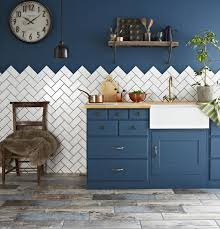 best kitchen cupboard paint blue painted kitchen with white tiles