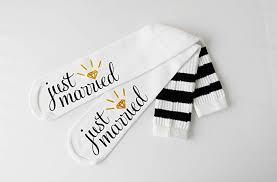 just married bride socks knee high wedding socks honeymoon gifts enement socks bridal shower gift bride
