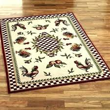 rooster rugs for kitchens washable impressive kitchen the french country red and excellent rug runners k