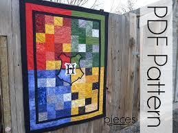WIzard School 4-House Quilt PDF Pattern Quilt Pattern & 🔎zoom Adamdwight.com