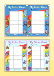 Twinkl Resources My Sticker Chart Printable Resources