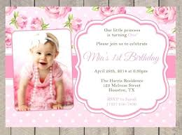 Baby Birthday Invitations Girl Invitation First Cards Online Relodpro