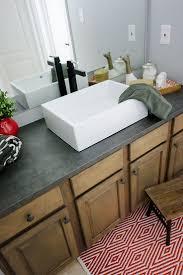 Concrete Countertop Over Laminate Best 10 Countertop Makeover Ideas On Pinterest Cheap Granite